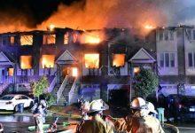 Massive early-morning fire destroys 11 townhouses in Winona-Milenio Stadium-GTA