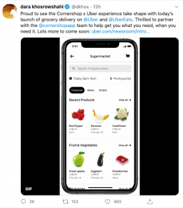 Uber getting into grocery delivery-twitter-camoestv-canada