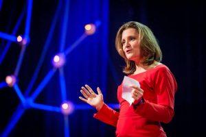 Chrystia Freeland Ted Talk-Milenio Stadium-Canada