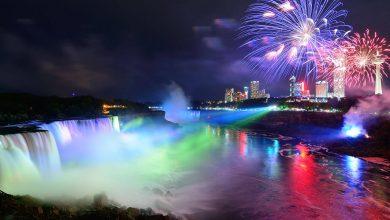 O festival de luzes em Niagara Falls-niagarafalls-mileniostadium