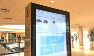 This directory in Chinook Centre mall in south Calgary uses facial recognition technology-Milenio Stadium-Canada