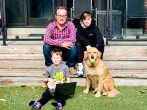Vince Gerrie and their 2 boys-Milenio Stadium-Toronto