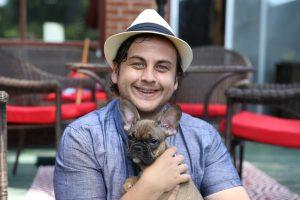Adam Harper only found out his French bulldog puppy-Milenio Stadium-Canada
