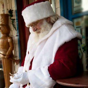 Floyd Blakeney has performed as Santa Claus for about 40 years in Nova Scotia-Milenio Stadium-Canada