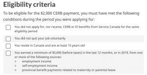 CERB requirements-Milenio Stadium-Canada