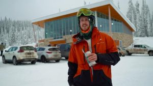 Skier Lloyd Kerr -Milenio Stadium-Canada
