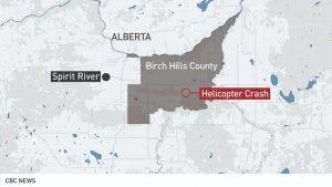 Helicopter Crash in Alberta-Milenio Stadium-Canada