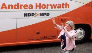 NDP leader Andrea Horwath-Milenio Stadium-Ontario