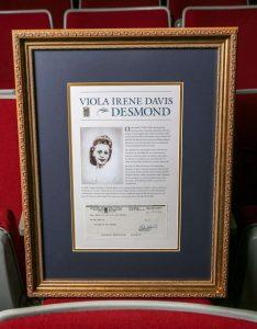 Viola Desmond cheque-Milenio Stadium-Canada