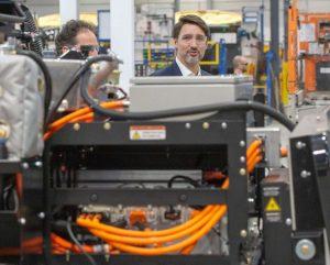 Trudeau toured Lion Electric's factory in Quebec-Milenio Stadium-Canada
