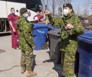 Canadian Armed Forces in Quebec on April 2020-Milenio Stadium-Ontario