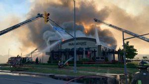 3-alarm fire guts Paramount Fine Foods restaurant in Mississauga-Milenio Stadium-Ontario