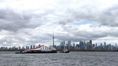 Toronto tem nova ponte em Port Lands-toronto-mileniosatdium