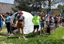 Protests meet city workers demolishing encampment near Lamport Stadium-Milenio Stadium-Ontario