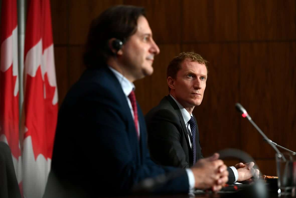 Minister of Immigration speaks with Minister of Indigenous Services-Milenio Stadium-Canada