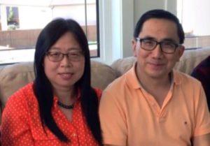 Qiu and her husband, Keding Cheng-Milenio Stadium-Canada