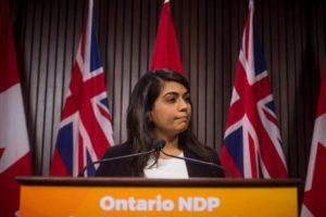 Sara Singh, NDP deputy leader-Milenio Stadium-Ontario