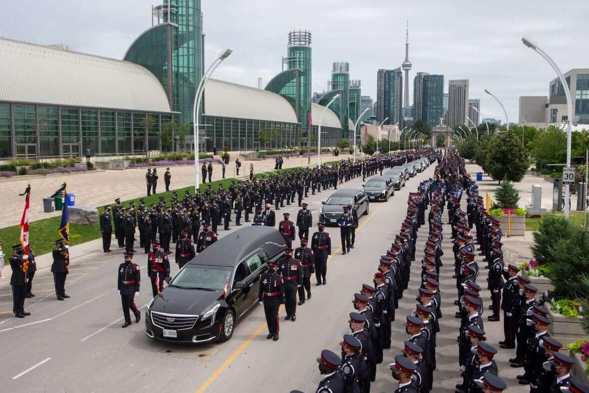 Funeral Toronto Police Officer Jeffrey Northrup-Milenio Stadium-Ontario