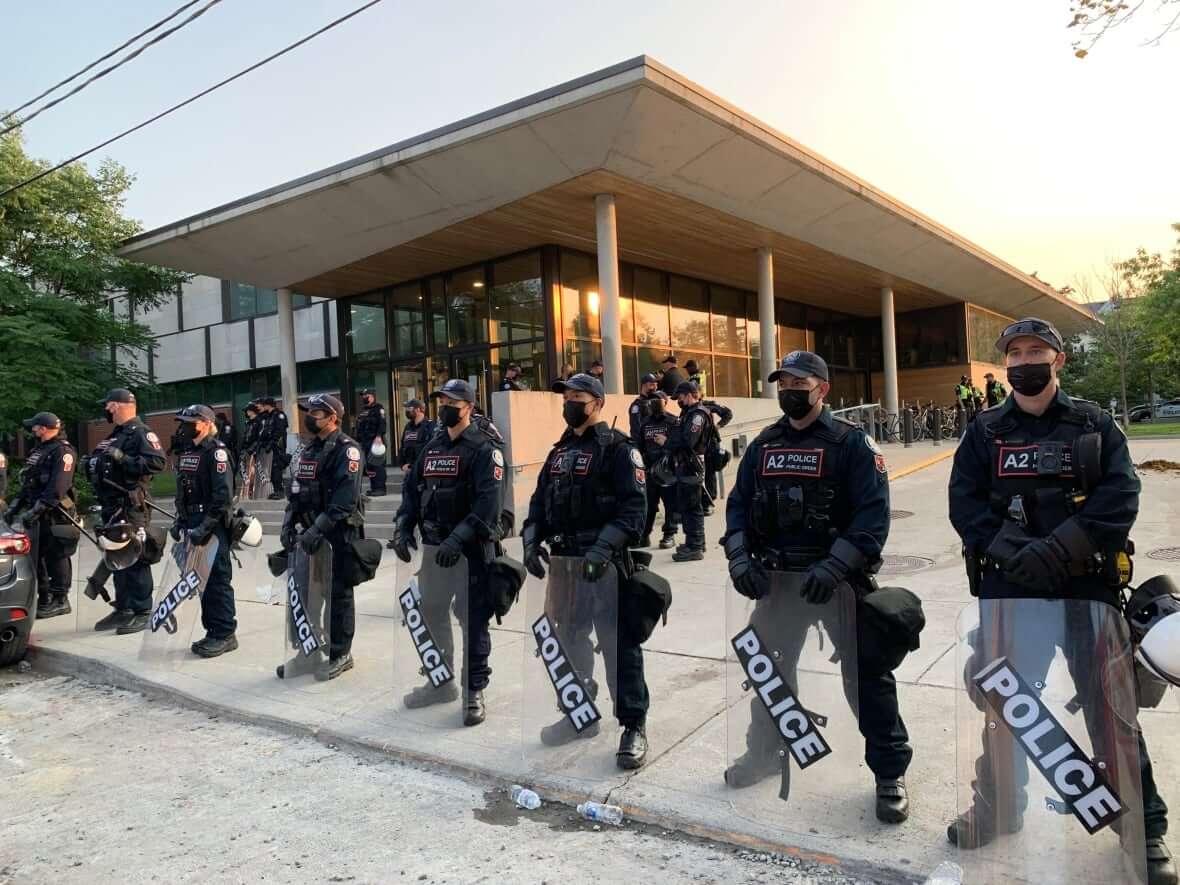 Police at 14 Division-Milenio Stadium-Ontario