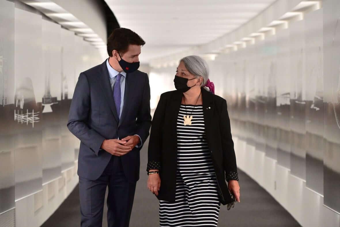 Prime Minister Trudeau with Mary Simon-Milenio Stadium-Canada