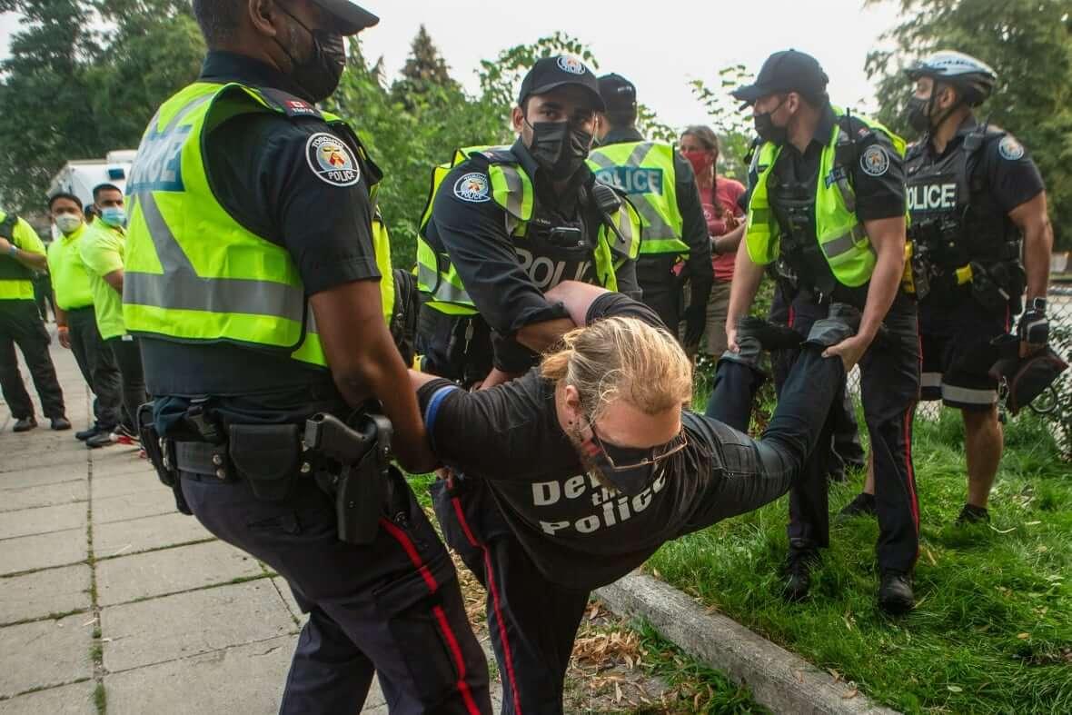 Protestor Alexandra Park-Milenio Stadium-Ontario