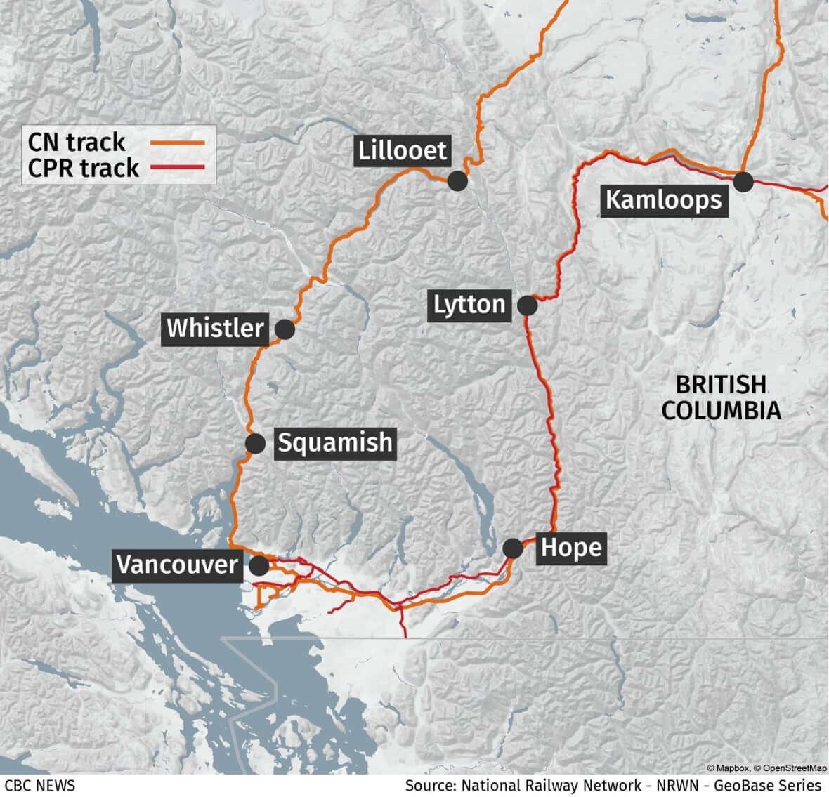 Rail network in BC-Milenio Stadium-Canada