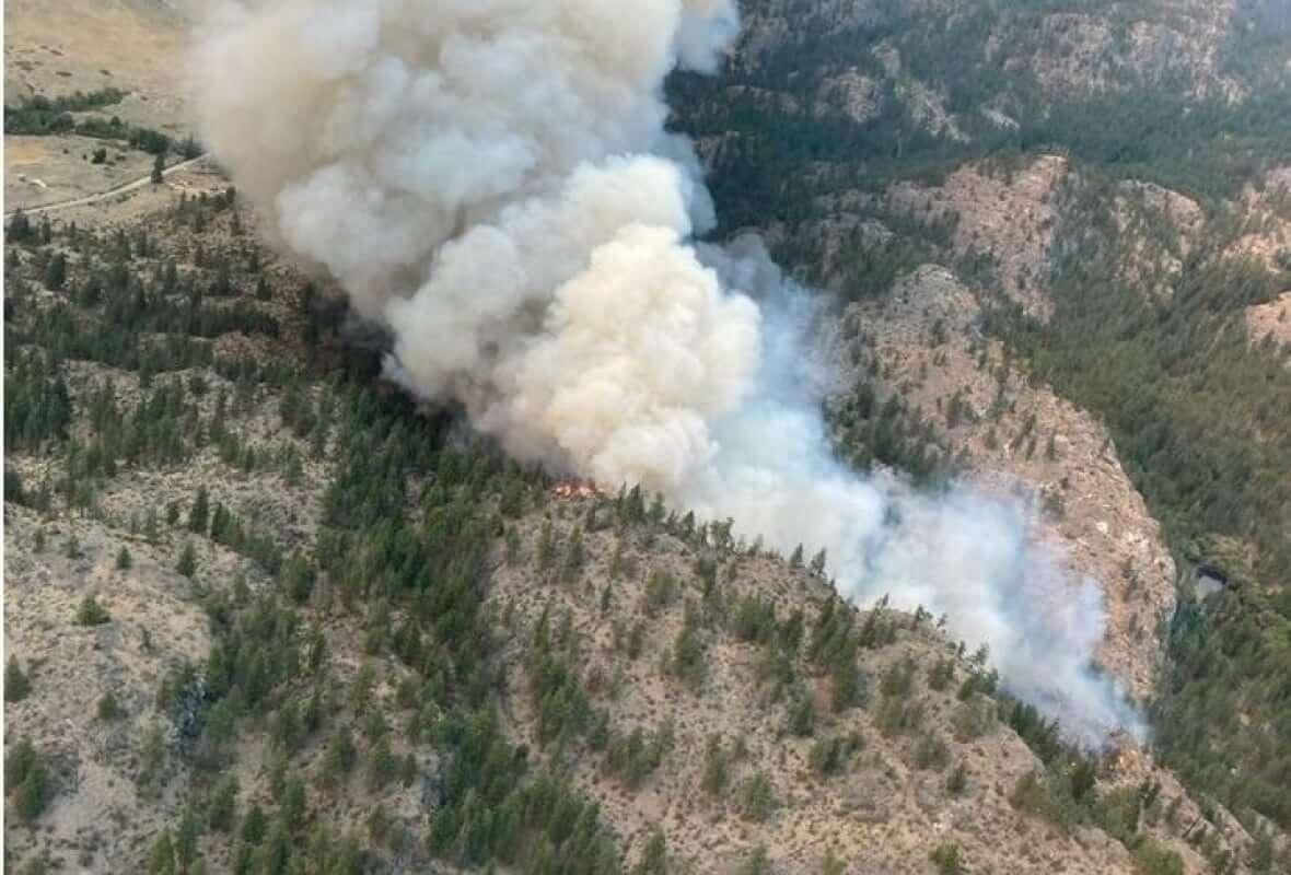 The Inkaneep Creek wildfire-Milenio Stadium-Canada
