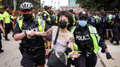 Violent scenes unfold at Toronto's Lamport Stadium park as city, police clear encampment-Milenio Stadium-Ontario