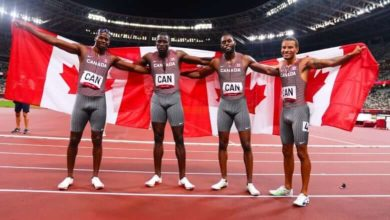 Andre De Grasse powers Canada to Olympic bronze in men's 4x100m relay-Milenio Stadium-Canada