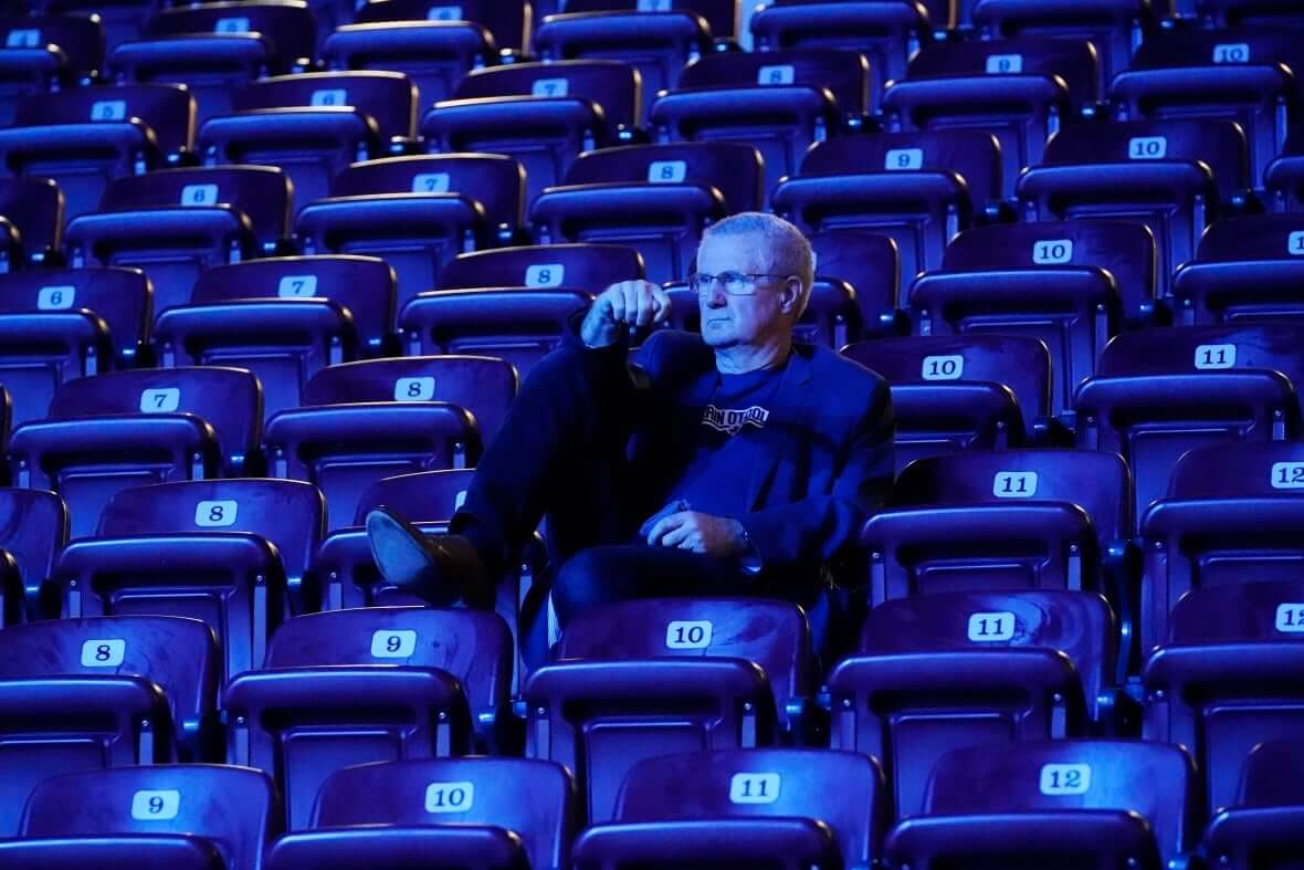 A supporter waits for results at Conservative Leader-Milenio Stadium-Canada