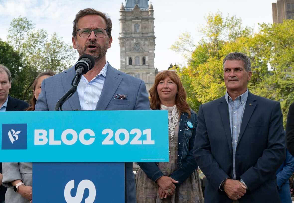 Bloc Québécois Leader Yves-Francois Blanchet-Milenio Stadium-Canada