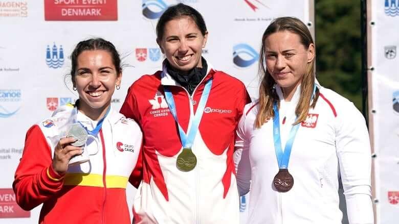 Canada's Katie Vincent wins 1st career world canoe sprint title-Milenio Stadium-Canada