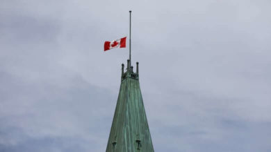 Flags will remain at half-mast until agreement is reached with Indigenous leaders-Trudeau-Milenio Stadium-Canada