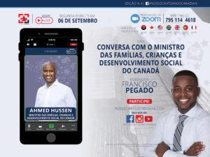 Nosso Canto recebe o ministro Ahmed Hussen-canada-mileniostadium