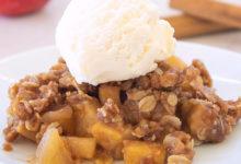 Crumble de maçã e gelado-culinaria-mileniostadium