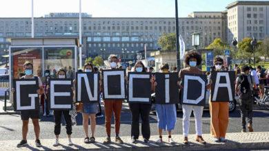 Brasileiros manifestam-se em Lisboa contra presença de ministro da Saúde - milenio stadium - portugal
