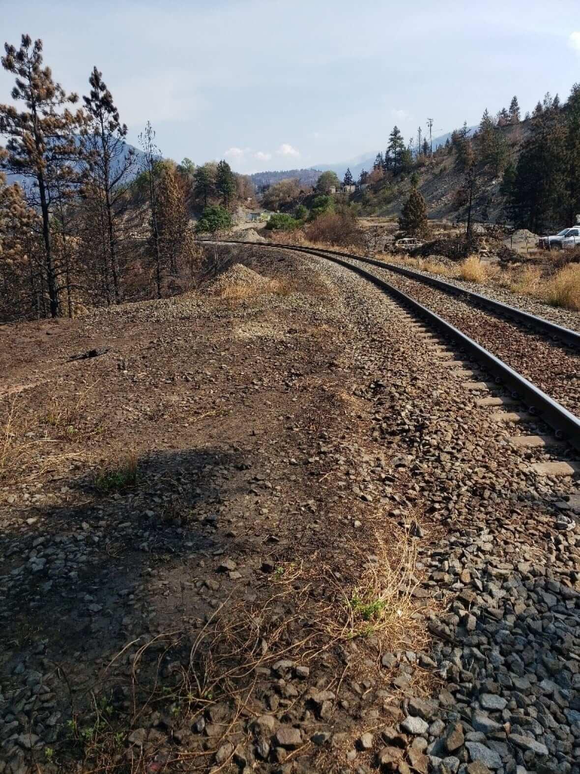 CN Rail line near Lytton,BC-Milenio Stadium-Canada