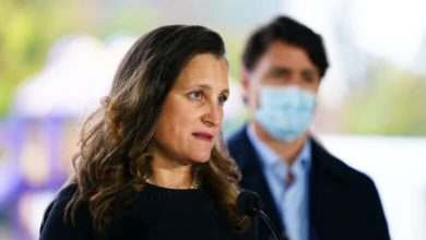 Government to spend $7.4B transitioning to new pandemic support programs-Freeland-Milenio Stadium-Canada