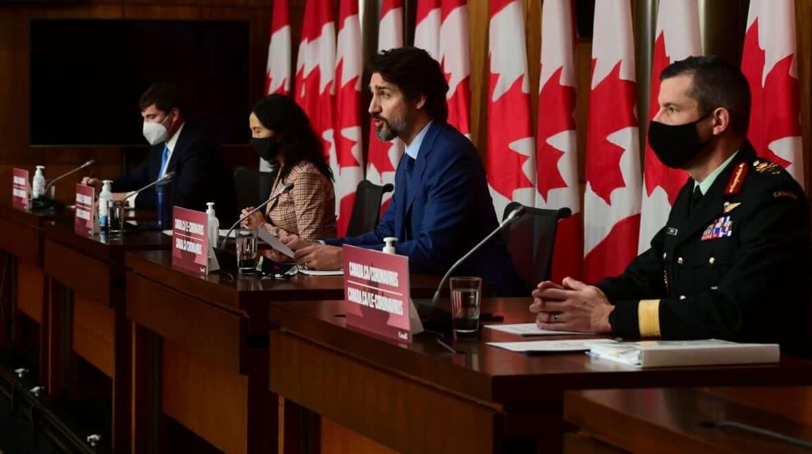 Maj Gen Dany Fortin with Prime Minister Justin Trudeau-Milenio Stadium-Canada